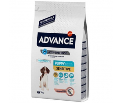 ADVANCE DOG PUPPY SENSITIVE SOMONLU PRİNÇLİ YAVRU KÖPEK MAMASI 3 KG