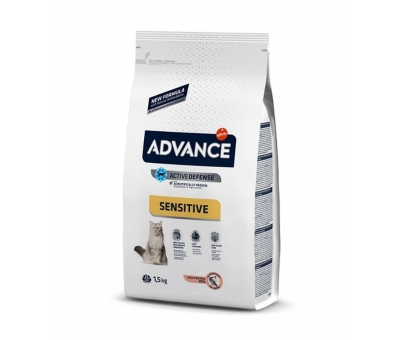 ADVANCE SENSİTİVE SOMON PİRİNÇ YETİŞKİN KEDİ MAMASI 1,5 KG