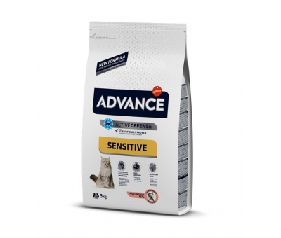 ADVANCE SENSITIVE SOMON PİRİNÇ YETİŞKİN KEDİ MAMASI 3 KG